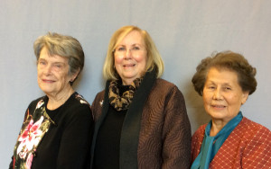 Left to right: Carol Marchette, Betty Jetter and June Matsuoka