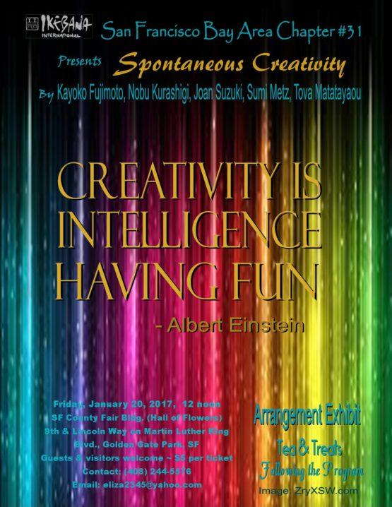 jan19-2017-Spontaneous creativity
