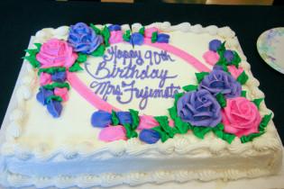 Birthday cake for Mrs. Fujimoto