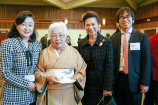 Mrs. Fujimoto with Guests