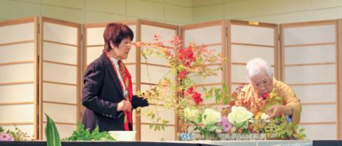 Kayoko Fujimoto and her assistants